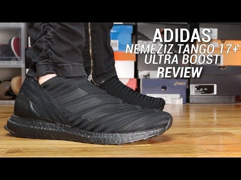 faf019cdef2d ADIDAS NEMEZIZ TANGO ULTRA BOOST TRIPLE BLACK REVIEW - YouTube