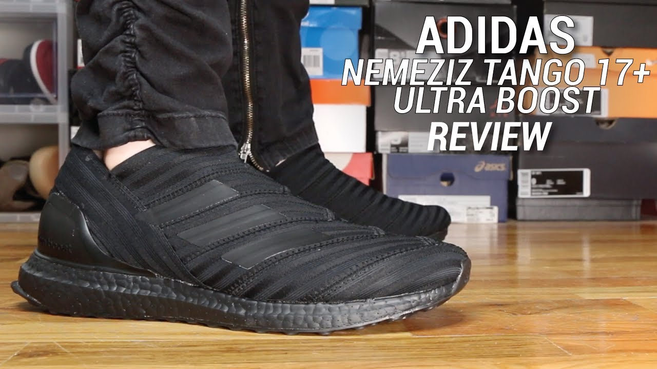 513d63712 ADIDAS NEMEZIZ TANGO ULTRA BOOST TRIPLE BLACK REVIEW - YouTube