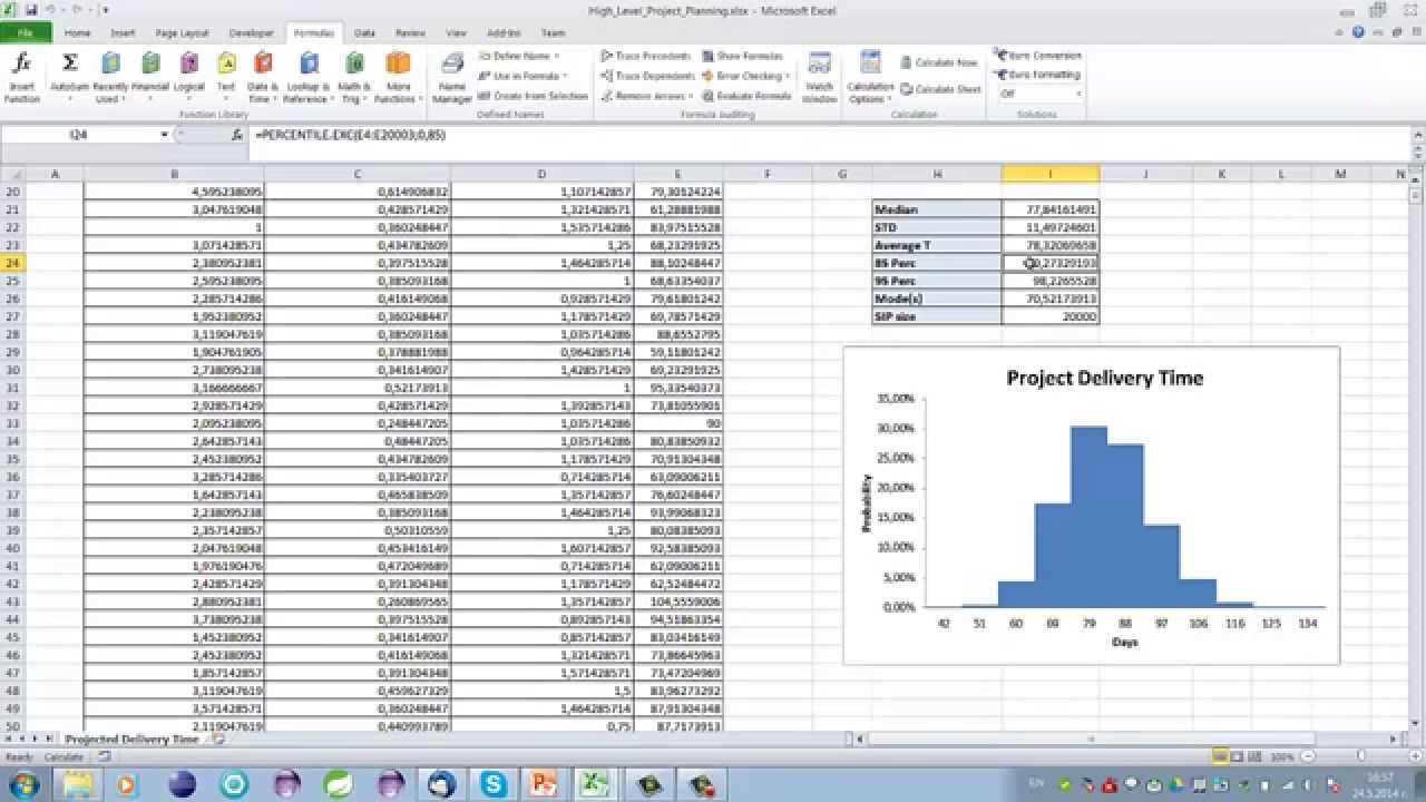 high level project planning using monte carlo simulation youtube