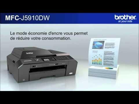 imprimante multifonction jet d 39 encre mfc j5910dw brother youtube. Black Bedroom Furniture Sets. Home Design Ideas