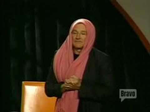 Inside The Actors Studio Robin Williams with the pink scarf