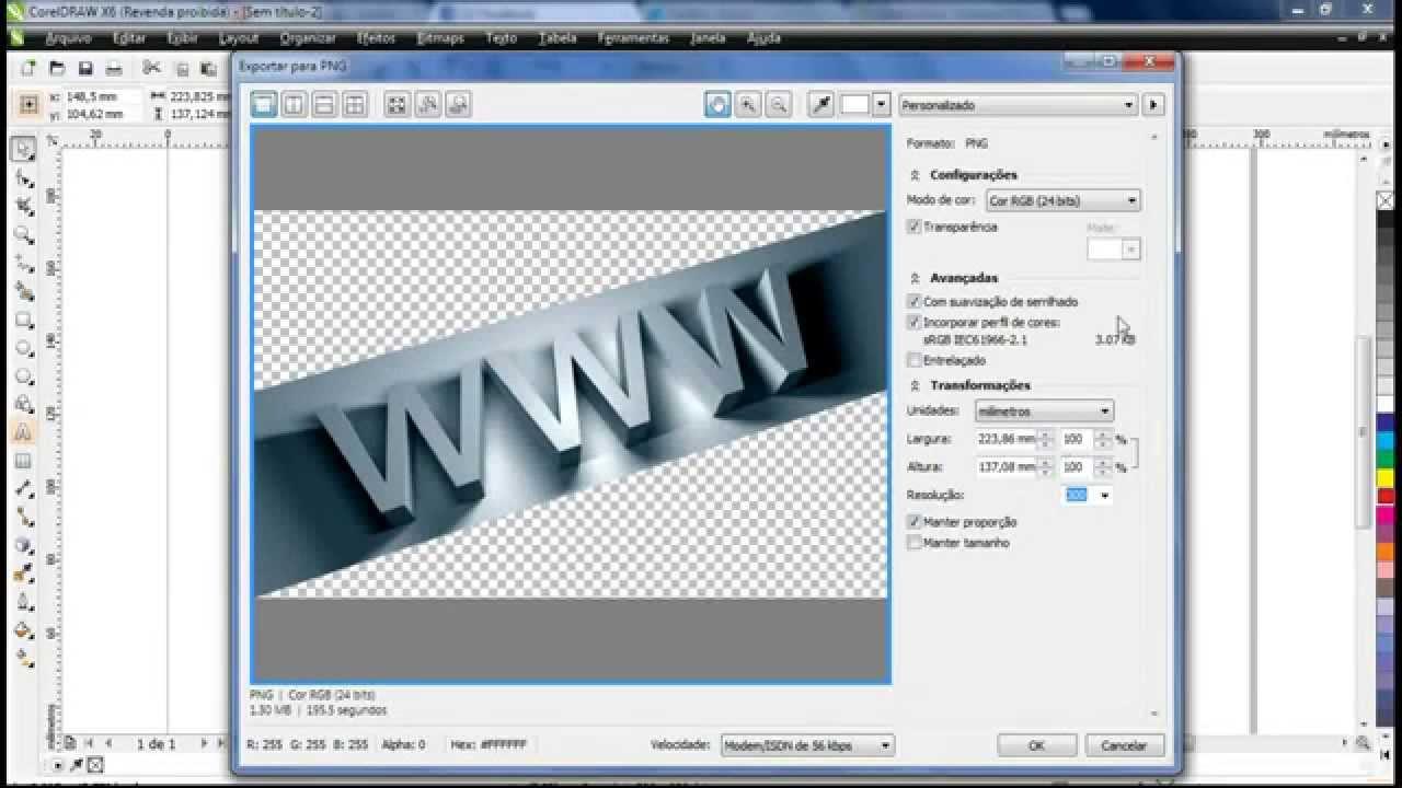 CorelDraw: Exportando em PNG e JPEG - YouTube