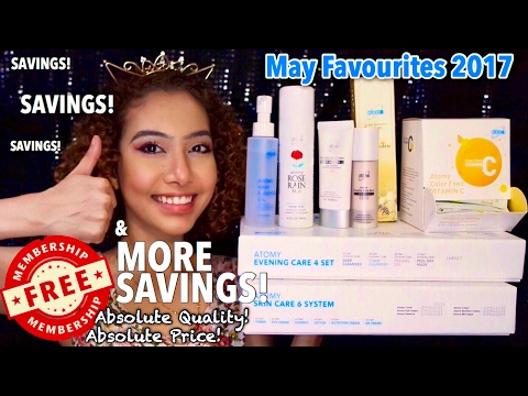 May Favourites 2017 | HUGE Korean Skincare Haul ft Atomy Singapore | IkinMan