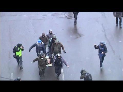 Des tirs à balles réelles à Kiev - 20/02