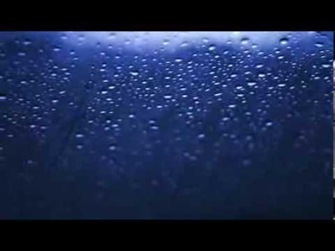 Футаж - Тяжелые Капли Дождя