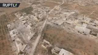 Drone buzzes over two east Aleppo districts taken by Syrian Army from rebels