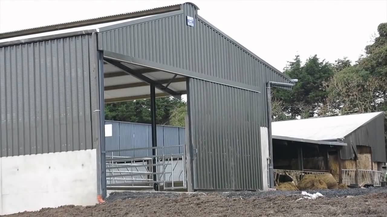 Farm Buildings Slatted Shed amp Feed Store YouTube