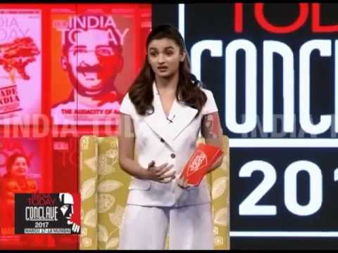Exclusive: Alia Bhatt On The Paternity Podcast | India Today Conclave 2017