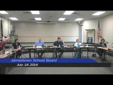 Jamestown Public Schools July 18 2016