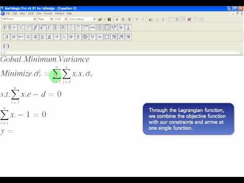 global-minimum-variance-1:-the-lagrangian-function