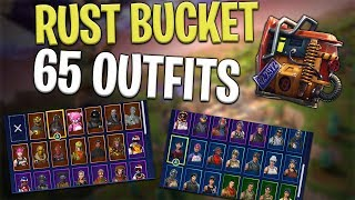 Free Rust Bucket Back Bling on 65 Outfits - Fortnite