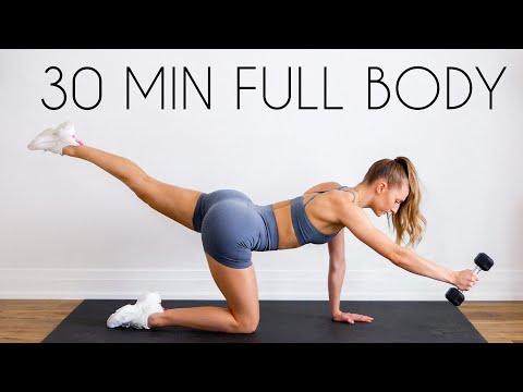 30 min FULL BODY SCULPT At Home (NO JUMPING, Minimal Equipment)