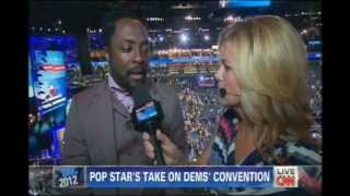 CNN using new technology, the Video Mic Flag, at the Democratic National Convention.avi