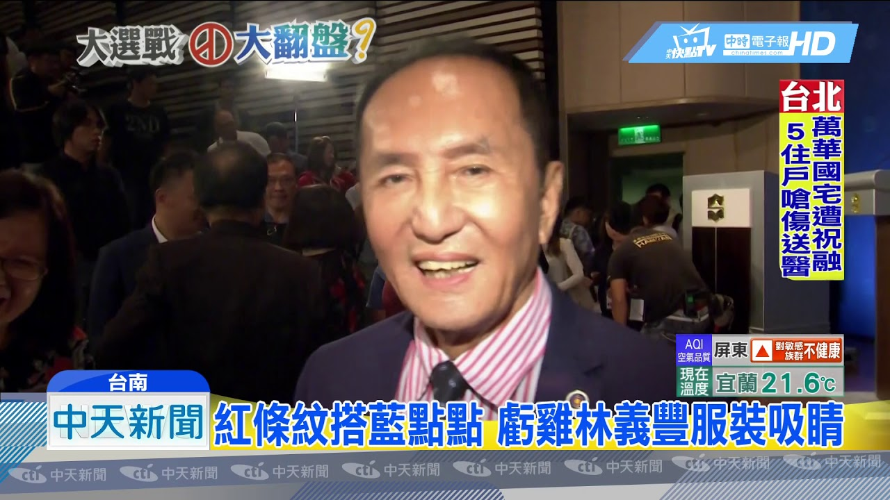 20181028中天新聞 臺南市長電視辯論! 「虧雞福來爹」繽紛登場 - YouTube