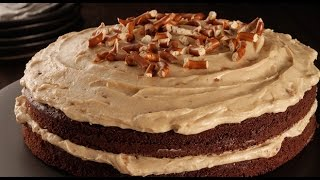 Chocolate and Peanut Butter Layered Cake