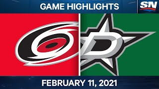 NHL Game Highlights   Hurricanes vs. Stars - Feb. 11, 2021