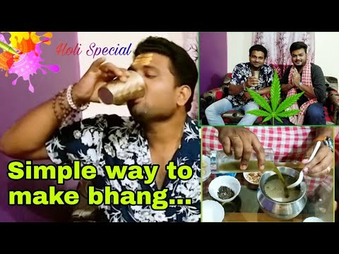 How To Make Bhang | Holi Bhang | Bhang Recipe