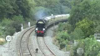1Z27 34046 Braunton on The Torbay Express passing Cowley Bridge 15/09/2013