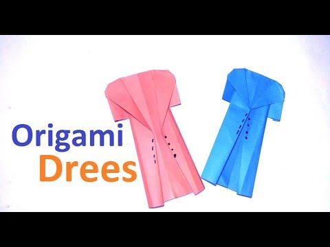 Origami Dress Realistic Paper Dress Easy Tutorial Step By Step