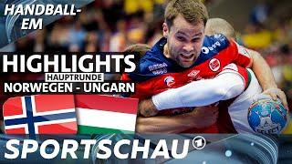 Norwegen auch von Ungarn nicht zu halten   Spielbericht   Handball-EM   Sportschau