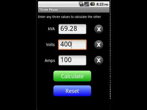 kVA Calculator App for Android