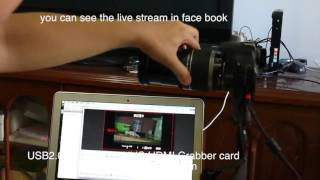 Broadcast DV camcorder from PC with Facebook live streaming