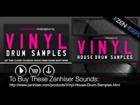 Vinyl house drum samples zenhiser youtube for Zenhiser classic house drum sounds