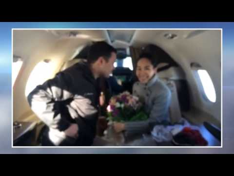 Marriage Proposal On a Private Jet