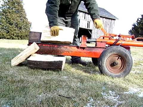 Log Boss Log Wood Splitter Gas Hydraulic Youtube