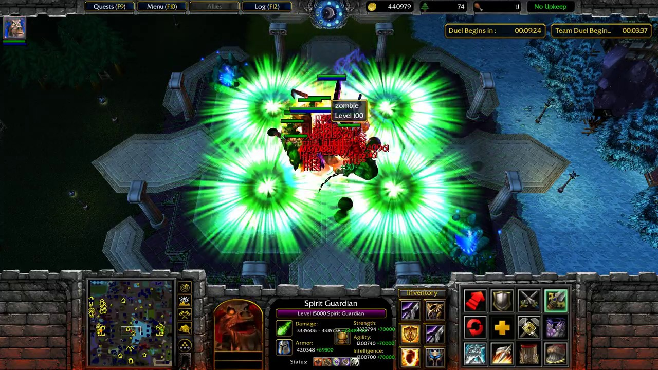 Warcraft 3 - Angel Arena Eclipse Reborn -Game end boss