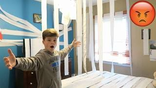 TOILET PAPERING MY BROTHERS ROOM PRANK!!