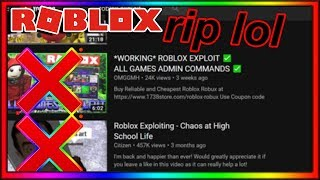 roblox is now TERMINATING exploit channels...