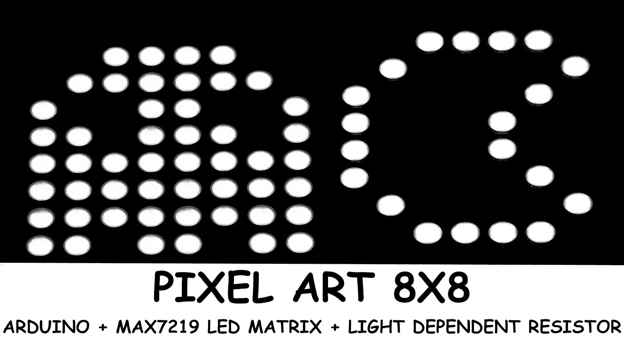 Arduino MAX7219 LED Matrix Light Dependent Resistor Pixel 8x8 Animation