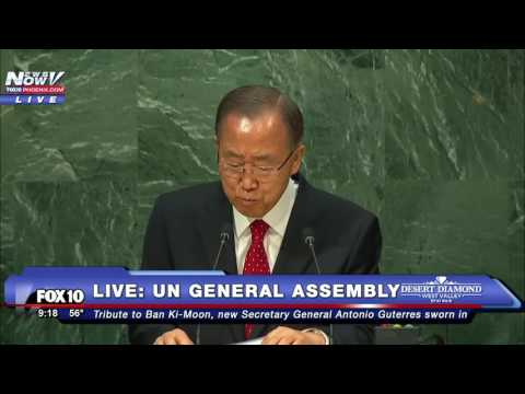 EMOTIONAL: Ban Ki-Moon Speaks to UN General Assembly in FINAL ADDRESS as Secretary General -FNN