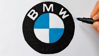 BMW Logo Çizimi - Bmw Amblem Çizimi / How To Draw The Bmw Logo (Symbol , Emblem)