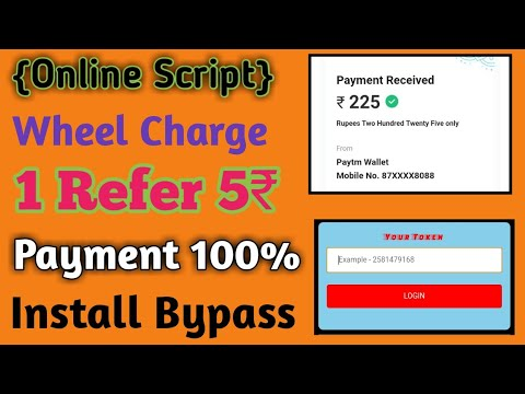 {Online Script} Wheel Charge Unlimited Refer || 1 Refer 5₹ || Payment 100%Loot Script