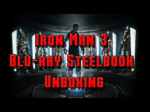 Iron Man 3 Blu-ray Steelbook Unboxing thumbnail