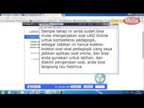 Cara Latihan Soal Ukg Online 2015 Di Web Mr Mung Web Id