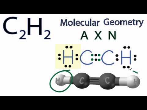 C2H2 Molecular Geometry / Shape and Bond Angles (see description for note)