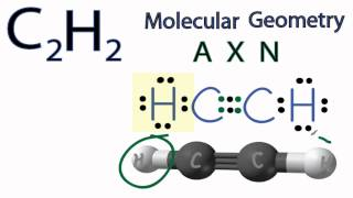 c2h2 molecular geometry shape and bond angles