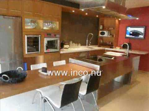 Cocina semi industrial con isla central acero inoxidable for Cocinas integrales con isla al centro