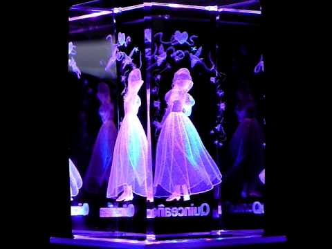 Quinceanera Snow White 3d Laser Etched Crystal Youtube