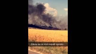 Pożar zbóż pod Lublinem (materiał nadesłany)