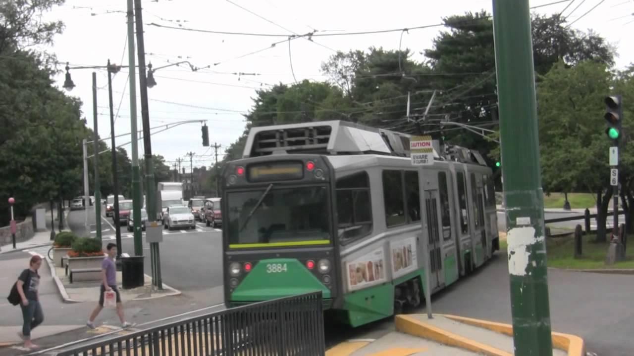 Boston College Green Line Station - YouTube