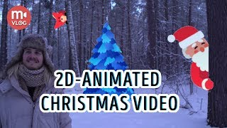 Shooting a Christmas fairytale with 2D-animation