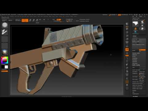 3D modeling sci-fi weapons in the game 2