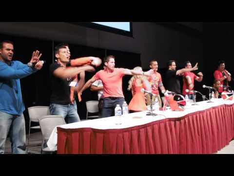 All Red Rangers Morph  Forever Red Panel Power Morphicon 2014