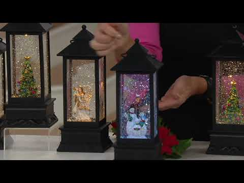 Illuminated Holiday Water Lantern With Timer By Lori Greiner On QVC