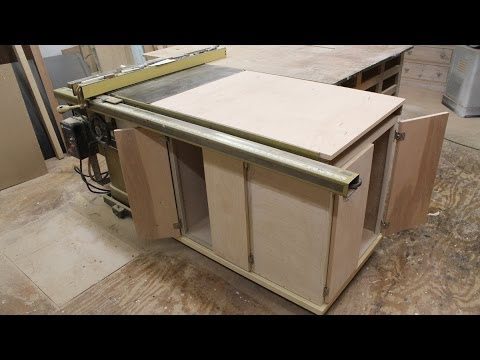 How to make Make a table saw storage cabinet - YouTube