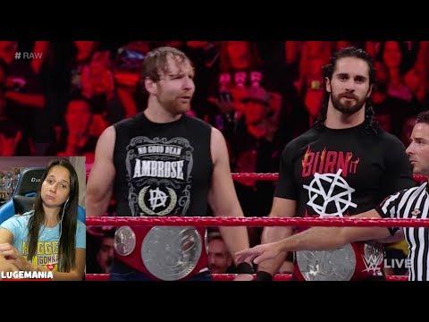 WWE Raw 9/18/17 Don't Call Dean Ambrose a NERD